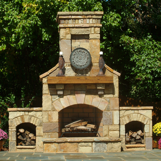 Wood Outdoor Fireplaces