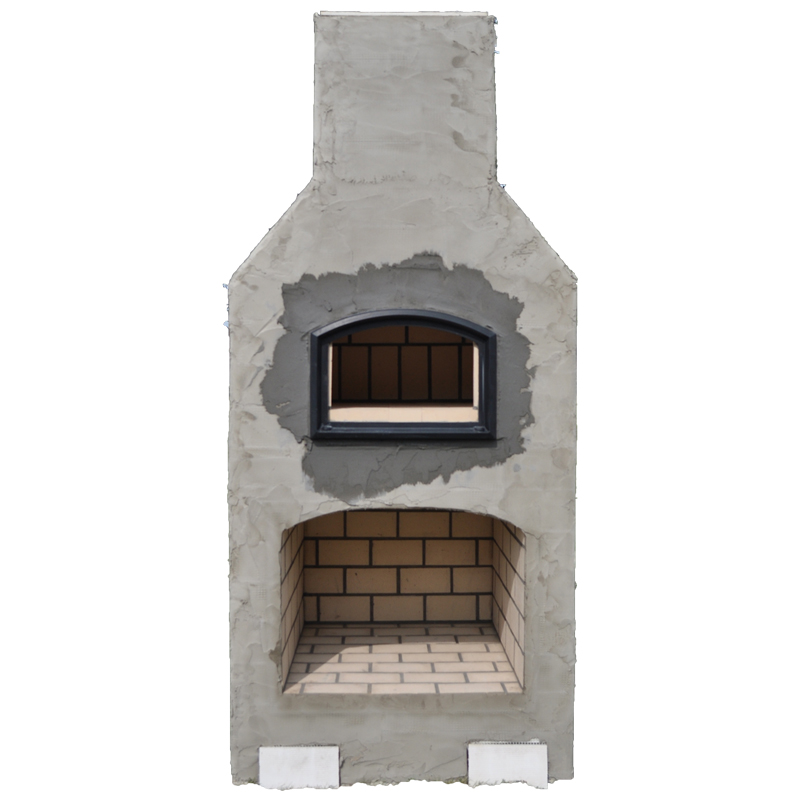 The West Park Outdoor Fireplace & Brick Oven Kit